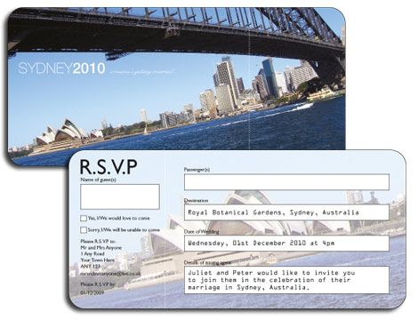 Airline Ticket Invitation Rsvp, Wedding and Weddings - airline ticket invitation