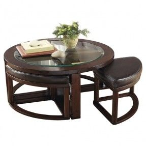 Round Coffee Table With Stools Ideas On Foter Coffee Table With Seating Coffee Table With Chairs Coffee Table And Stool Set Coffee table with nesting stools