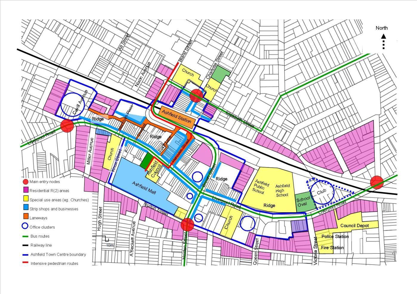 Permeability Ashfield Town Centrea