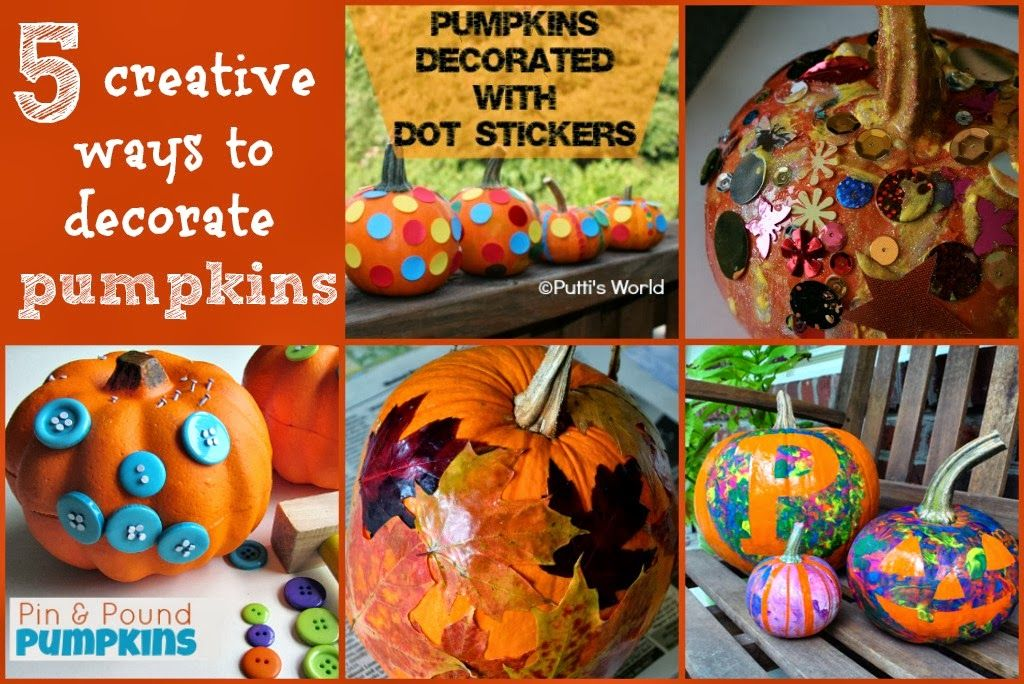 With a Faithful Heart: Pumpkin Decorating {Little Ones Learning}  5 creative ways to decorate pumpkins.  Great for toddlers, preschoolers, or older