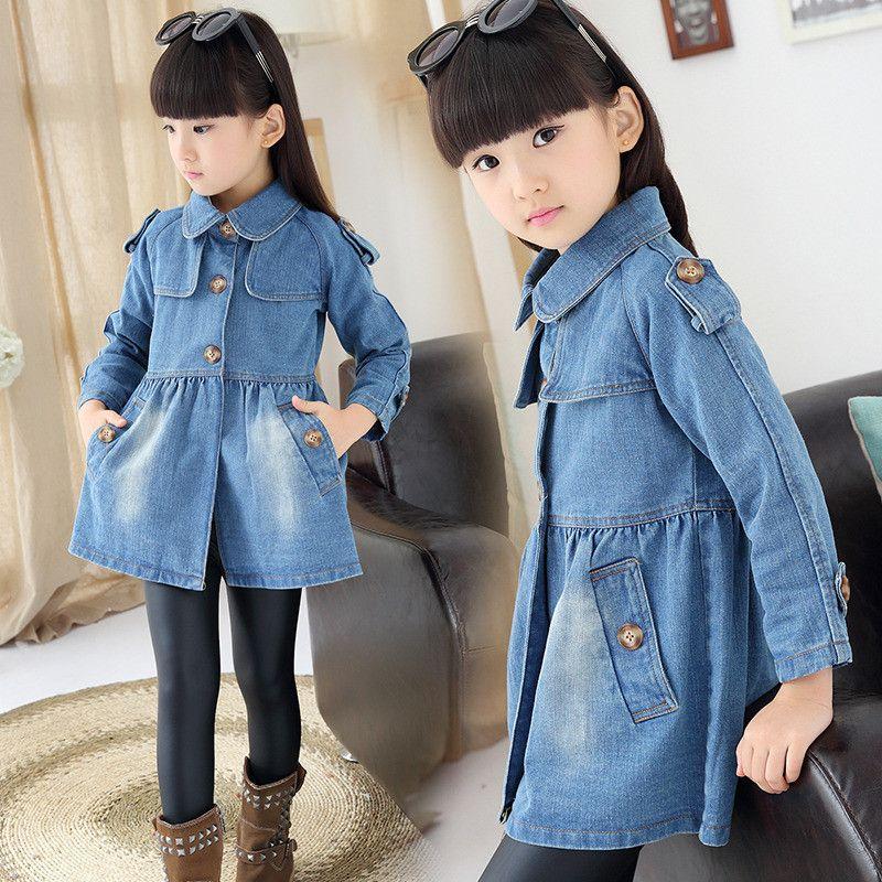 9884e510e Autumn Winter Trench Coat Girls Toddler Next Kids Clothes Roupas ...