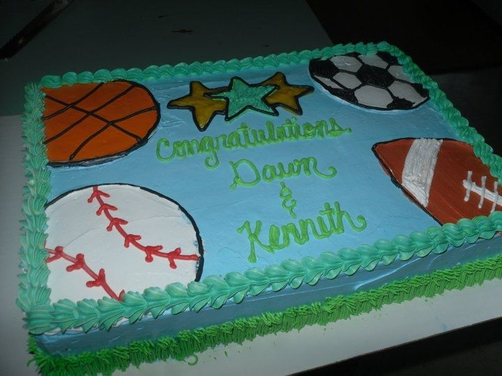 Sports Theme Baby Shower Cake Cakes Pinterest Shower Cakes