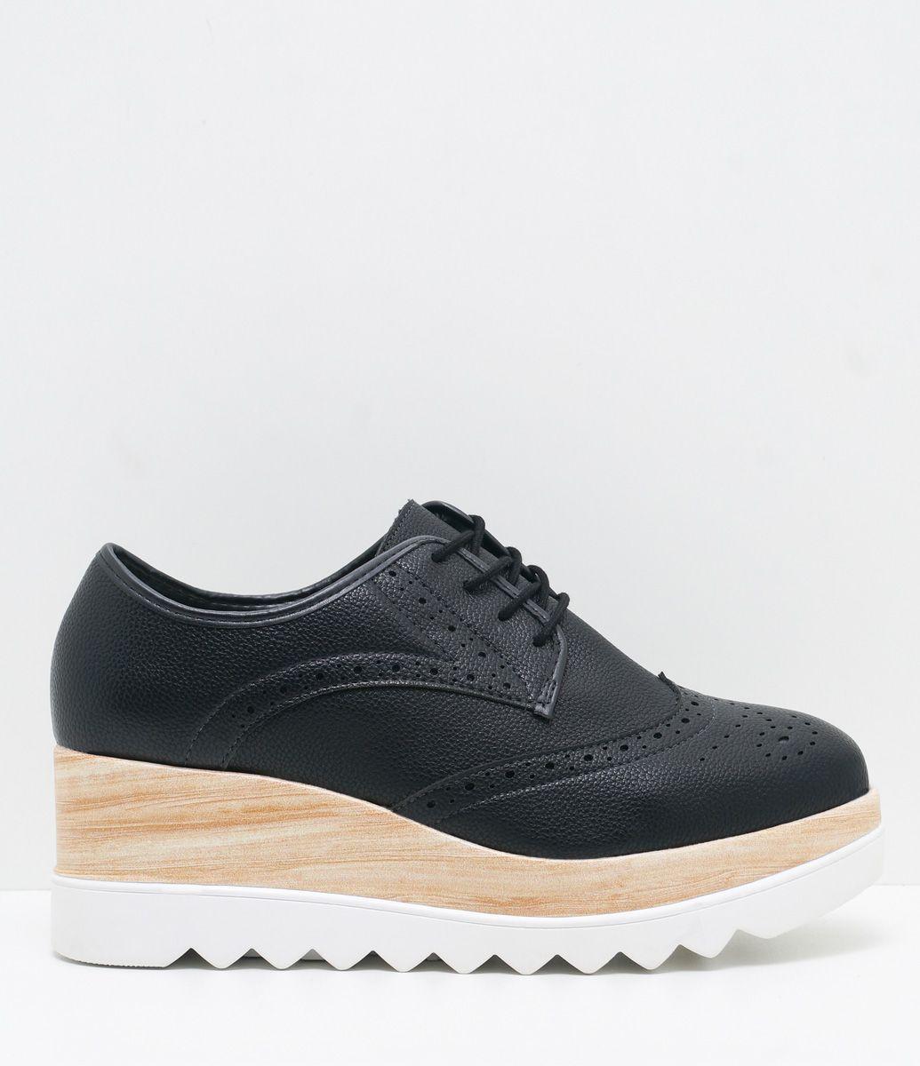4eb98f8475 Sapato feminino Material  sintético Oxford Flatform Marca  Moleca COLEÇÃO  VERÃO 2017 Veja outras opções