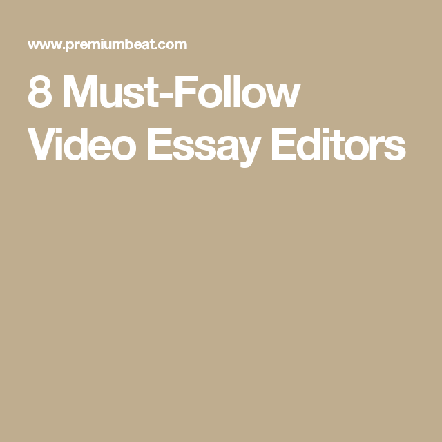 Business Communication Essay Cinematography   Mustfollow Video Essay Editors Essays In English also How To Start A Proposal Essay  Mustfollow Video Essay Editors  Filmmaking  Pinterest  Editor  Essay Examples For High School Students