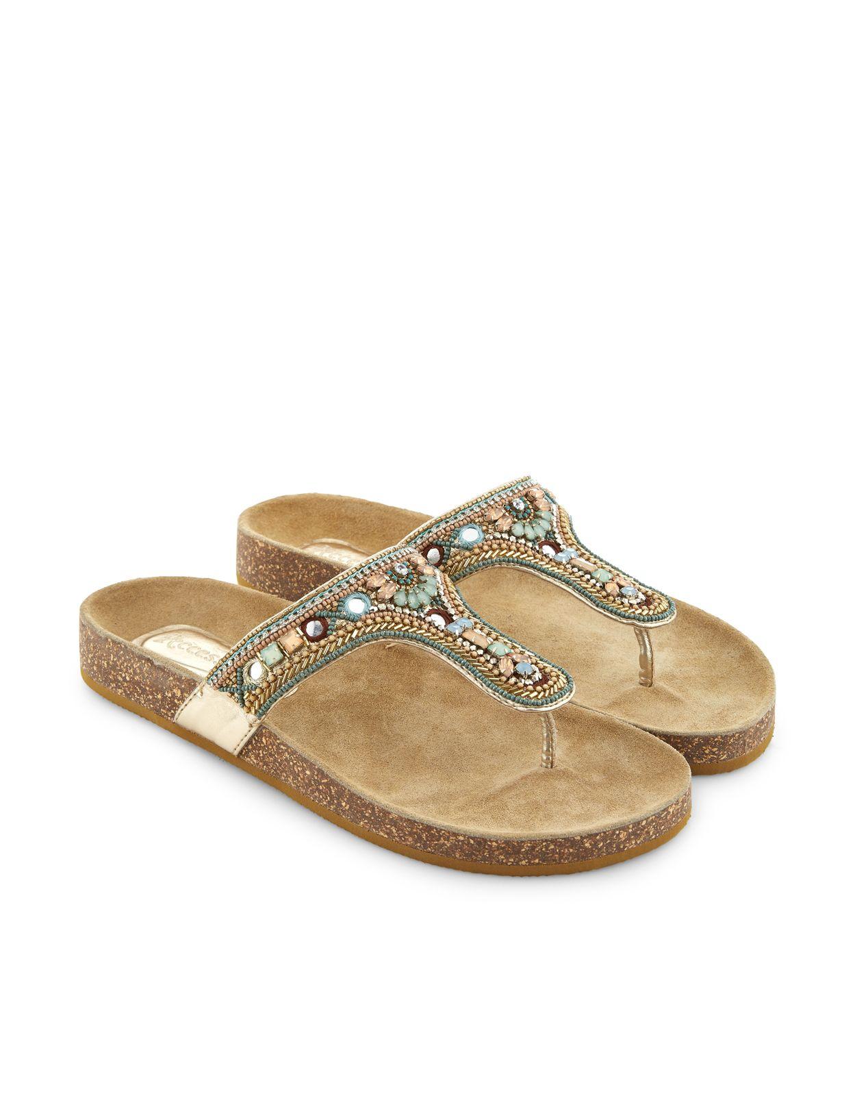 caa336505 Freya Embellished Footbed Sandals