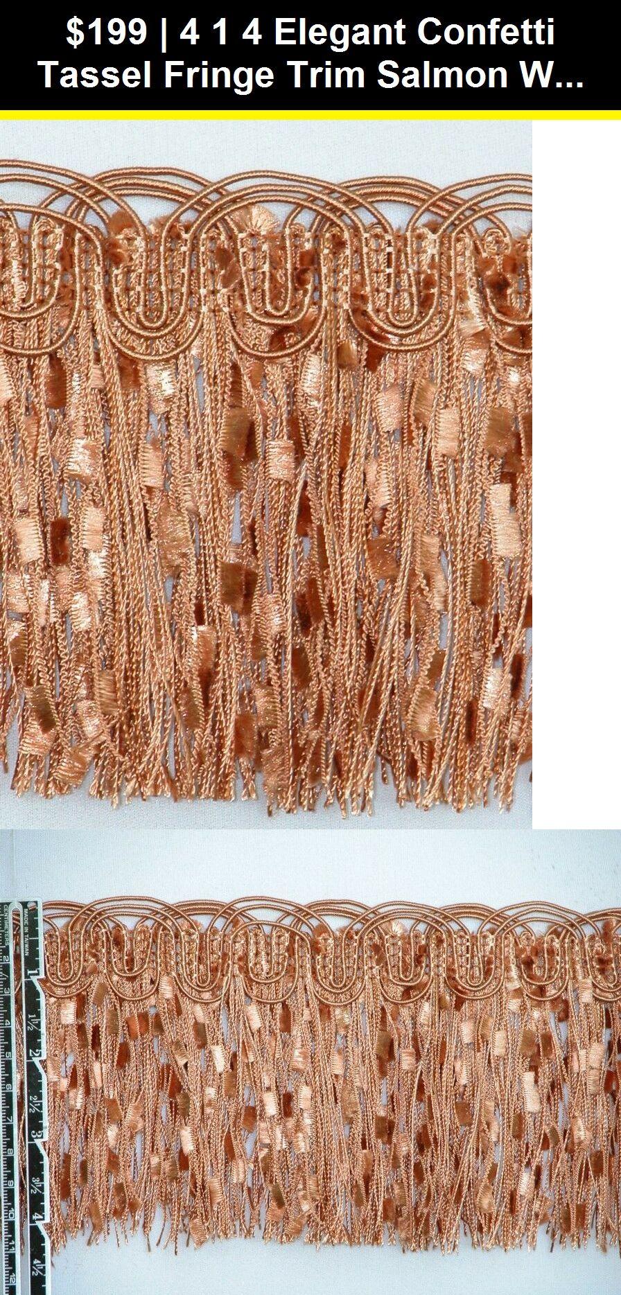 "4 1//4/"" Elegant Confetti Tassel Fringe Trim Gold Per Yard"