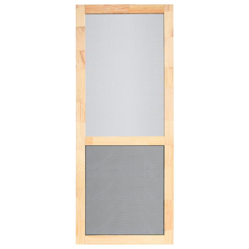 Screen Tight Petguard Series 36 In X 80 In Wood Century Screen Door Wcen36pg Screen Tight Vinyl Screen Doors Wood Screen Door