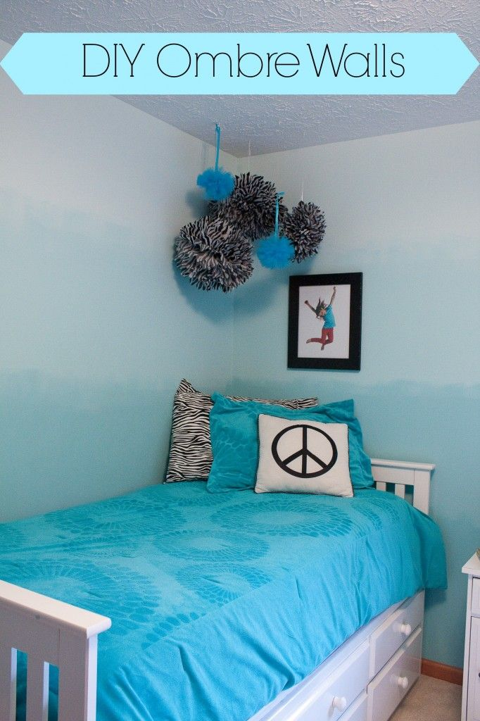 How to paint an ombr wall room decor diy ombre and room Simple teenage girl room ideas