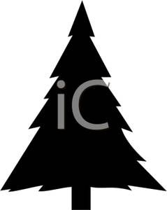 A Black And White Silhouette Of A Christmas Tree Clipart Picture Christmas Tree Clipart Christmas Tree Silhouette Pine Tree Silhouette