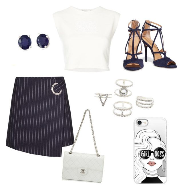 """""""Untitled #53"""" by annainna ❤ liked on Polyvore featuring Puma, Halston Heritage, Chanel, Effy Jewelry, Charlotte Russe and Casetify"""