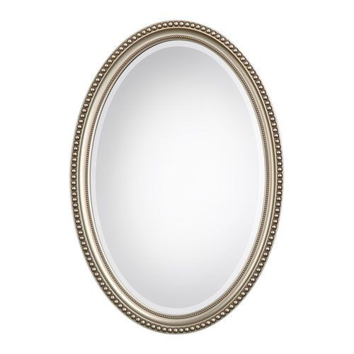 251 First Wellington Oval Mirror In Silver Traditional Bellacor