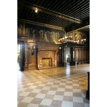 Boston Public Library, Boston, Massachusetts: the delivery room with murals depicting the quest for