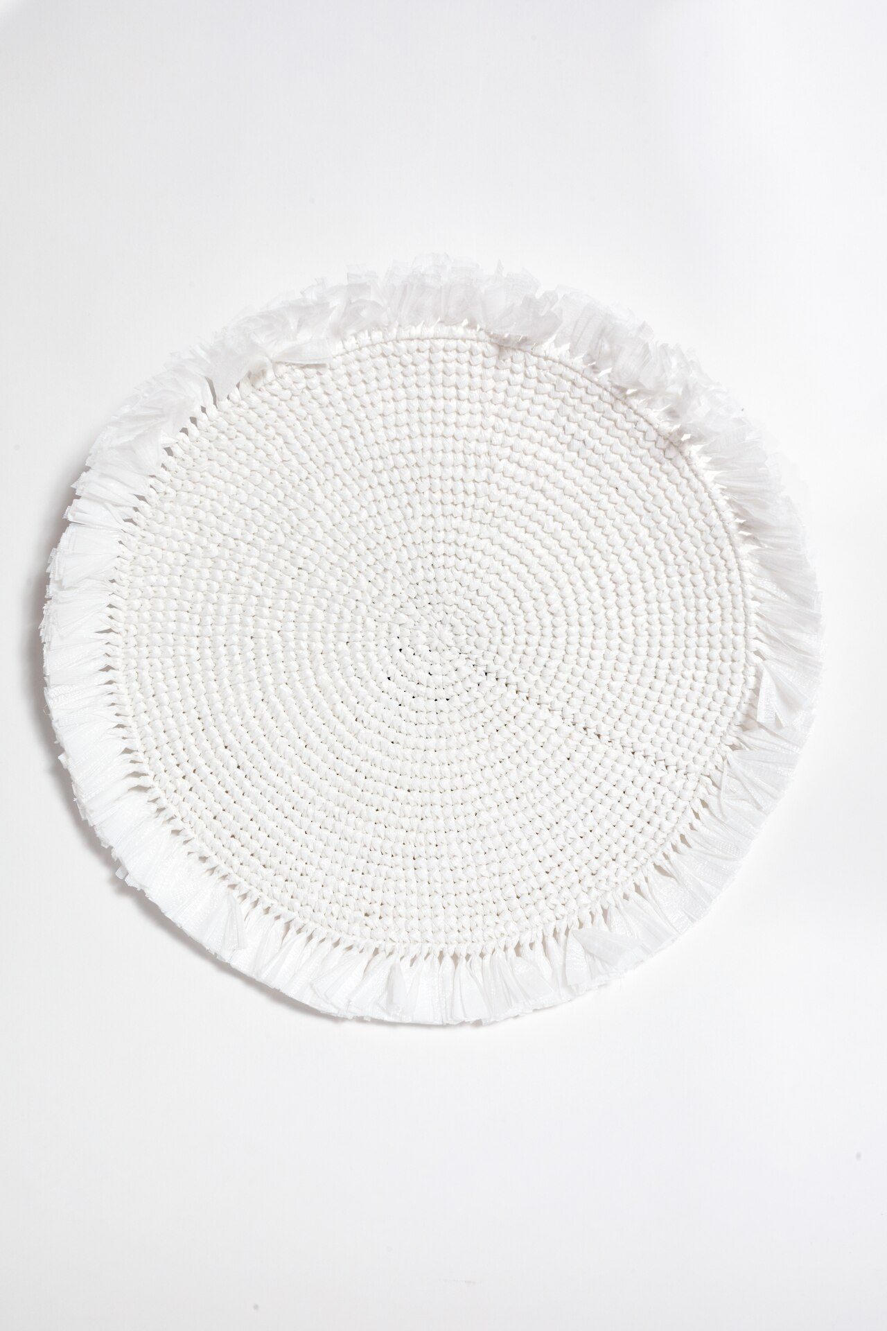 White Woven Fringe Placemat Placemats Floral Napkin Rings Woven