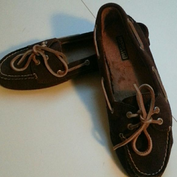 Sperry topsider loafers Brown suede,  fuzzy lining,  soft sole.  Great shoes,  just don't fit my feet! Sperry Top-Sider Shoes Flats & Loafers