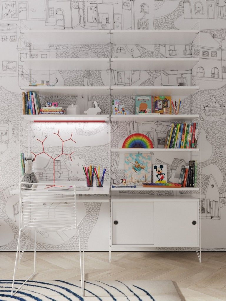 Decent Study Rooms: 25+ Good Inspirational Kids' Study Space