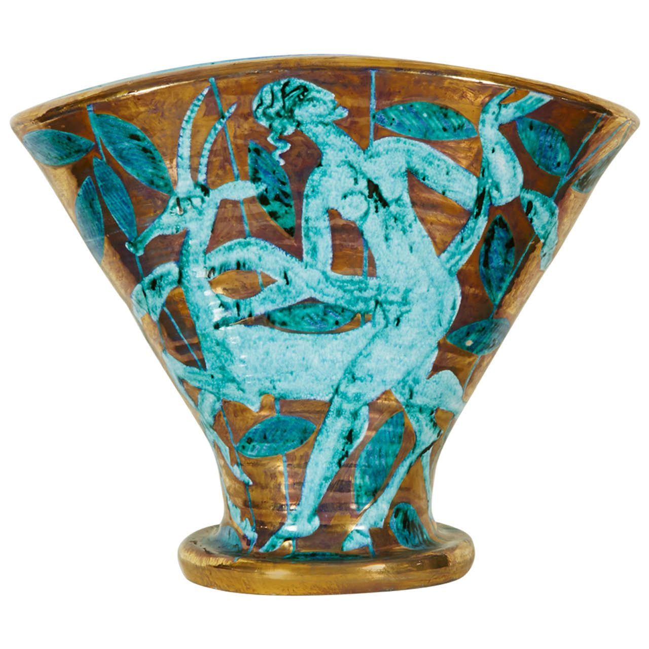 Large art dco vase by edouard cazaux circa 1935 pottery large art dco vase by edouard cazaux circa 1935 floridaeventfo Image collections