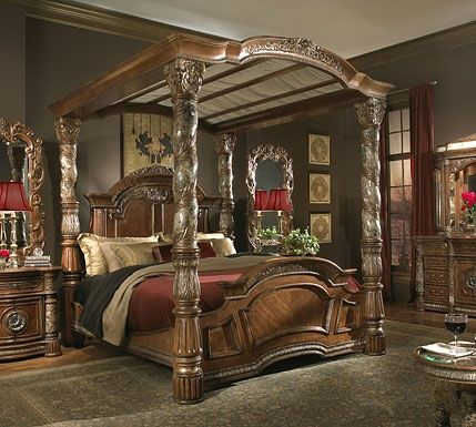 What a beautiful bedroom setso elegant  up-scale!! I luv it - Poster Bedroom Sets