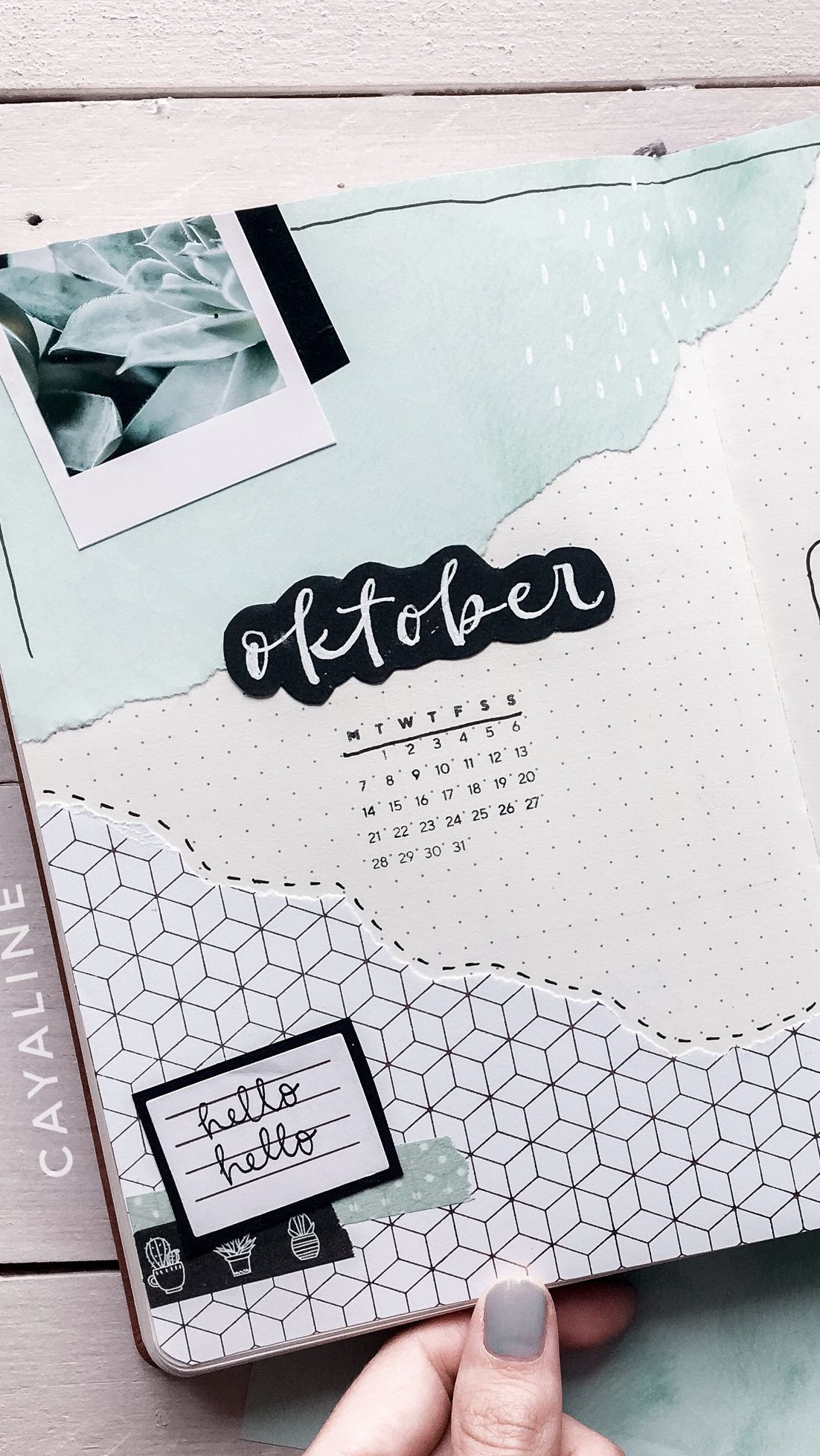 Cayaline Bullet Journal October Cover Page #bulletjournaldoodles