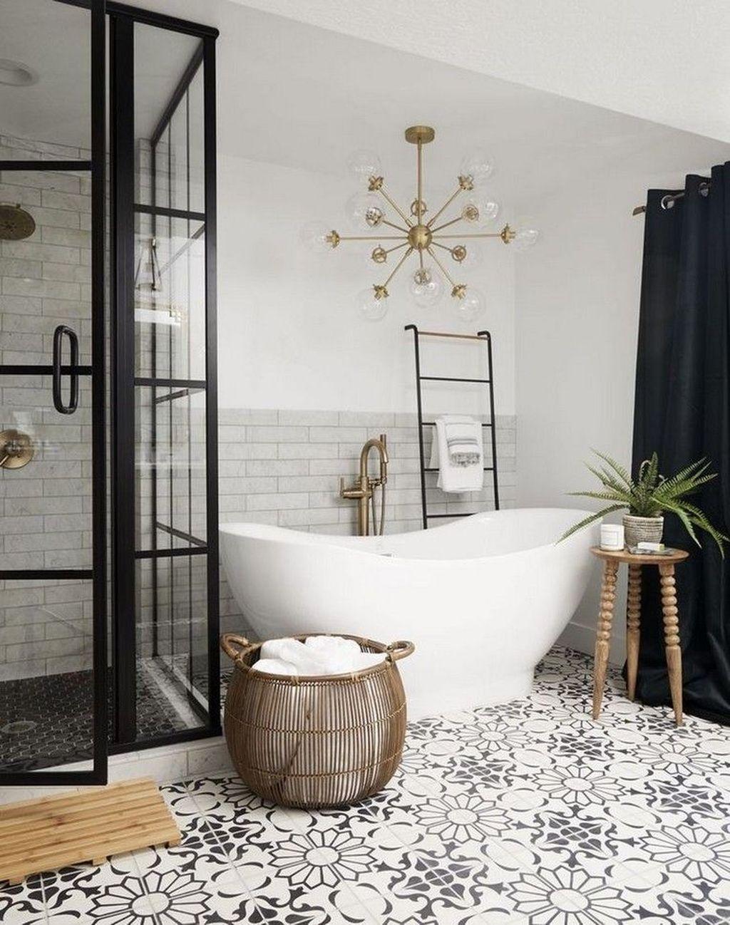 34 Lovely Farmhouse Bathroom Design Ideas Basement Bathroom
