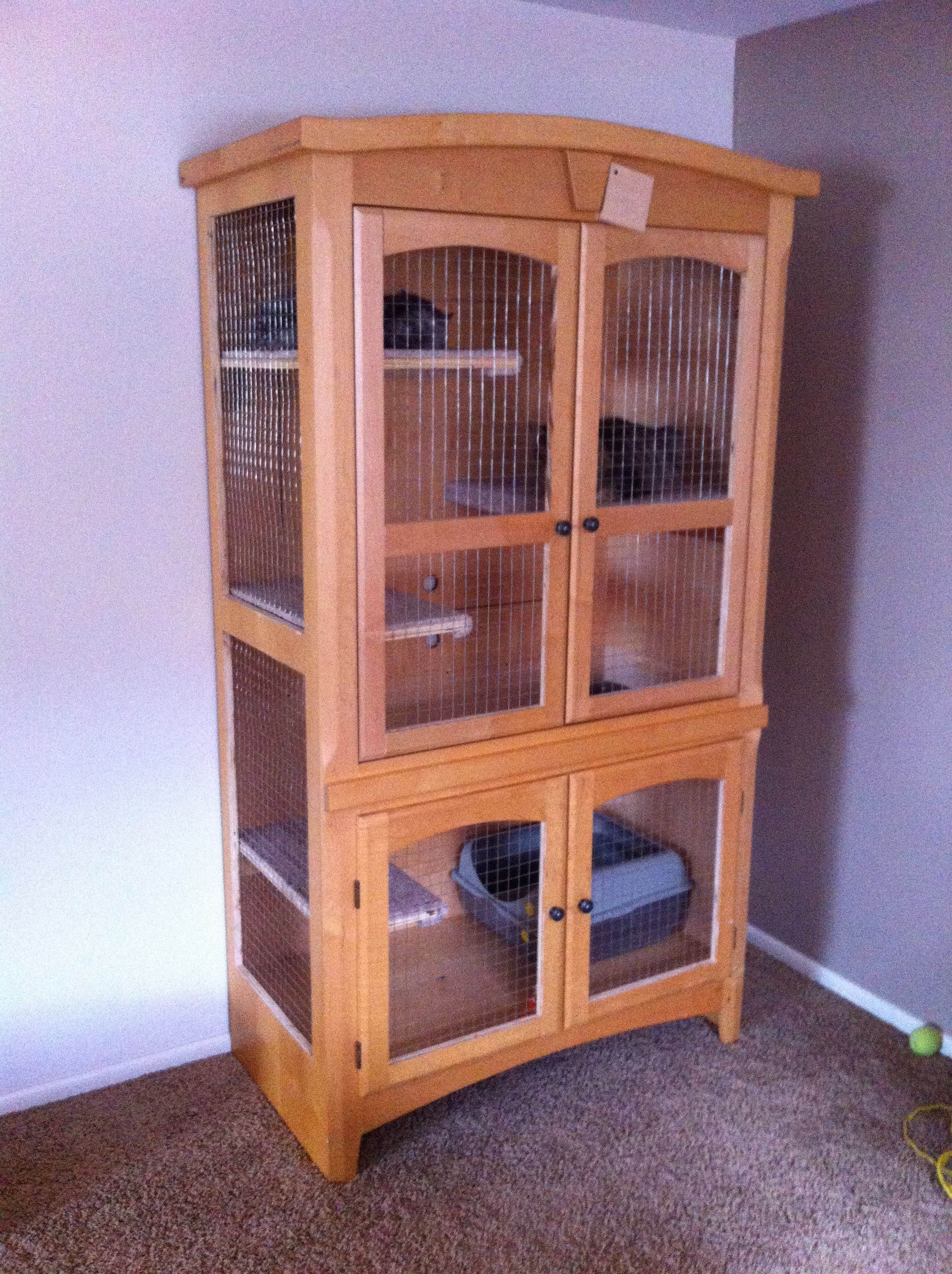 Cat cage. A wardrobe refurbished for a cat cage. For sale Denver ...