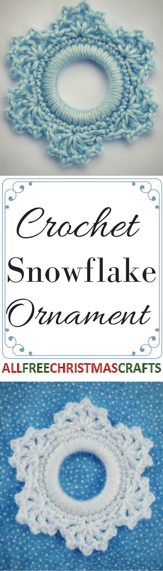 Easy Crochet Snowflake Ornament | Ganchillo | Pinterest | Ganchillo ...