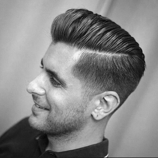 Moderner Herren Haarschnitt Beautiful Harte Teil Pompadour