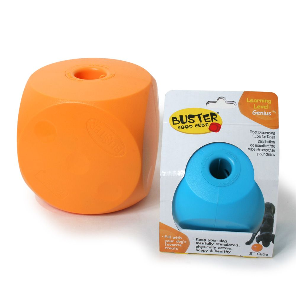 Buster Food Cube Smart Dog Toy For The Pup Smart Dog Toys