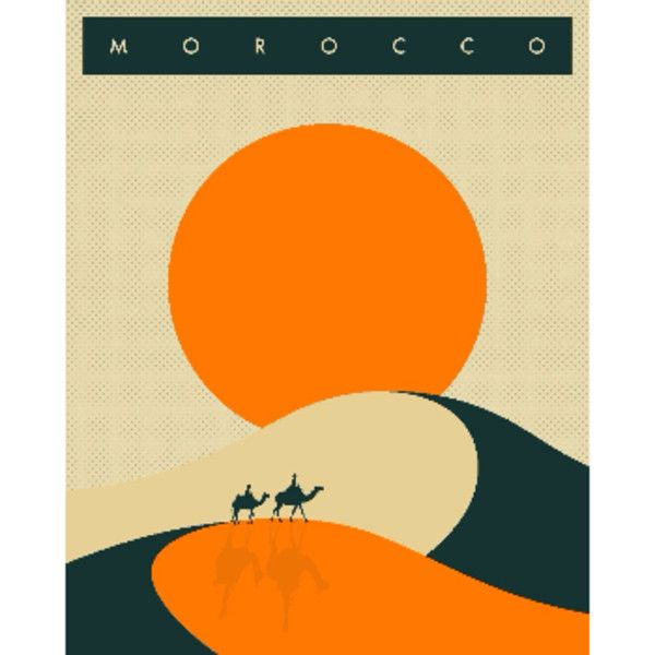 Jazzberry Blue Morocco Holiday A1 Framed Print ($160) ❤ liked on ...