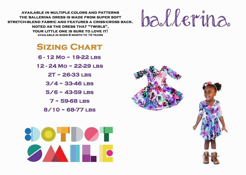 Ballerina dress size chart for dotdotsmile ballerina