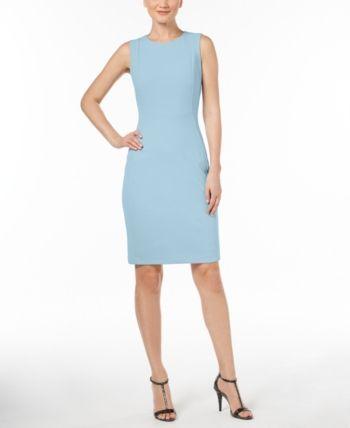 9a020628c7c Calvin Klein Scuba Crepe Sheath Dress - White 16 in 2019