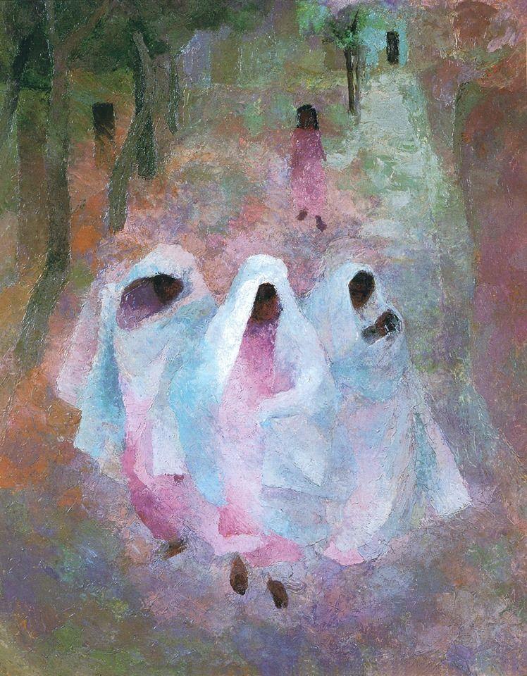 Elena Korovay (1901, Voronezh, Russian Empire -1974, ?)  Pink Women. Morning, 1930