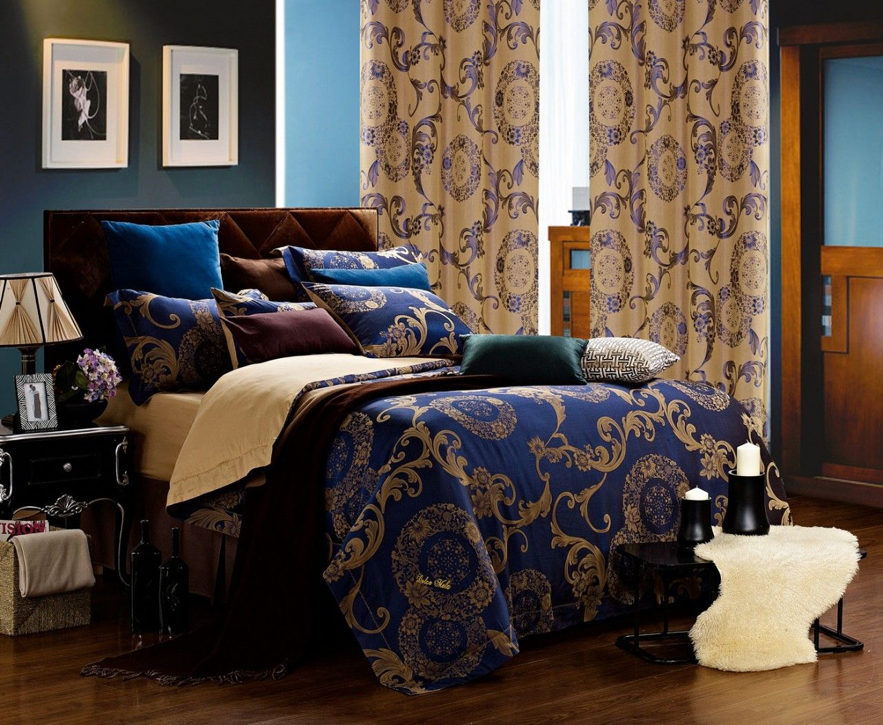 Venus 6 Piece King Set Matching Curtains Sold Seperatly Luxury
