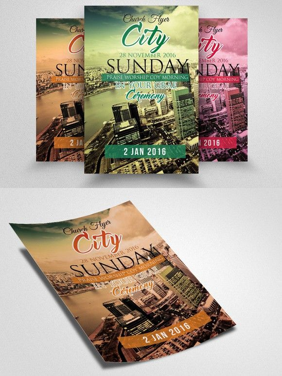 City Revival Church Flyer Flyer Flyer Template Business Flyer Templates