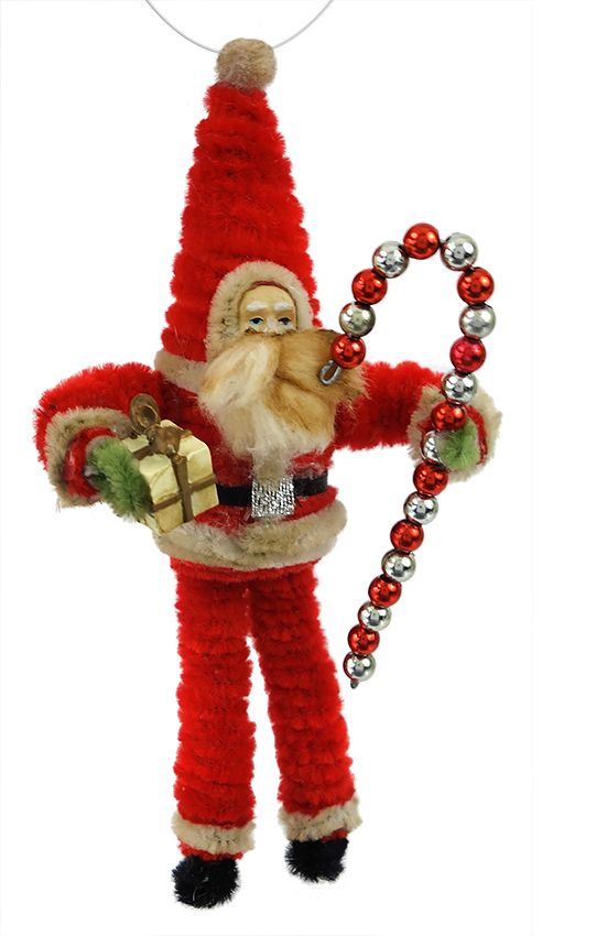 Vintage Christmas Craft Ideas Part - 23: VINTAGE CHRISTMAS SANTA WITH CANDY CANE
