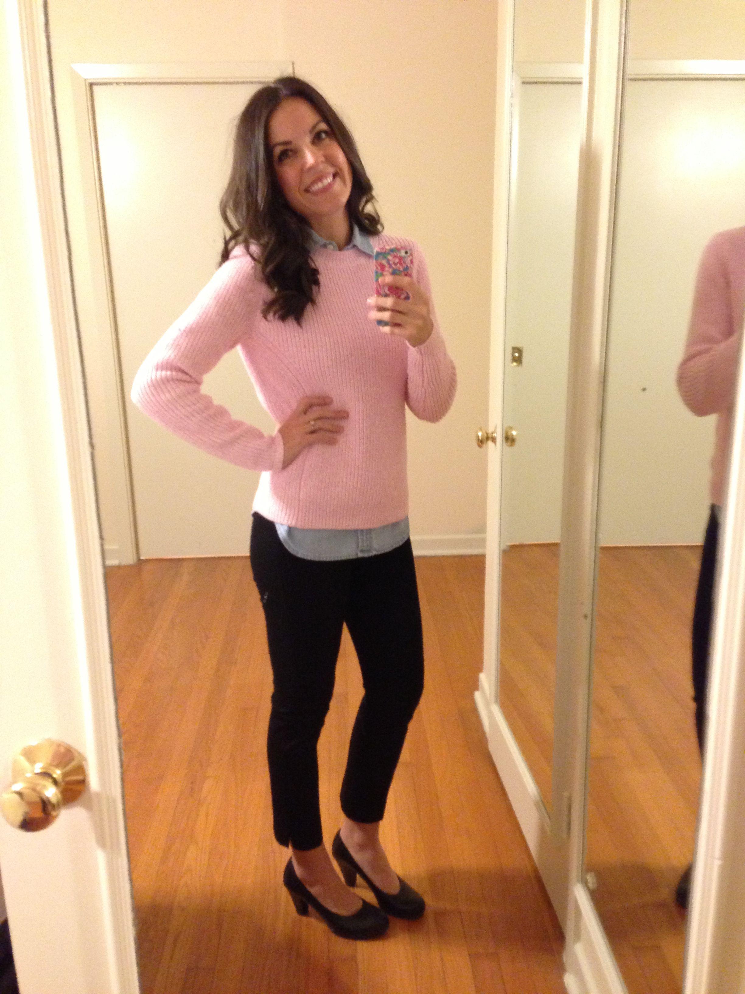 0f57dde023 Women s business attire  Pink sweater (Gap)