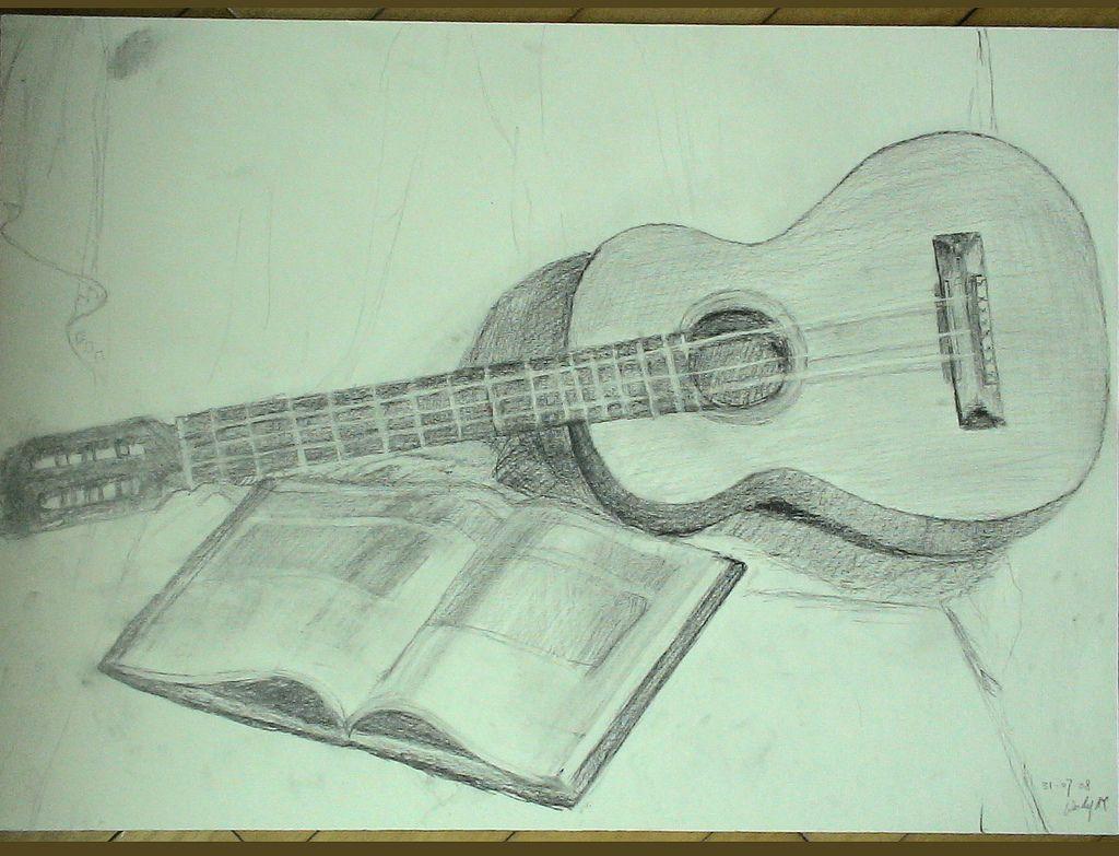 3d Pencil Sketch Guitar Wallpapers Drawing Art Library 3d Pencil Sketches Art Drawings Guitar Drawing