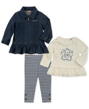 6f180fee1af3 Calvin Klein Baby Girls 3-Pc. Jacket