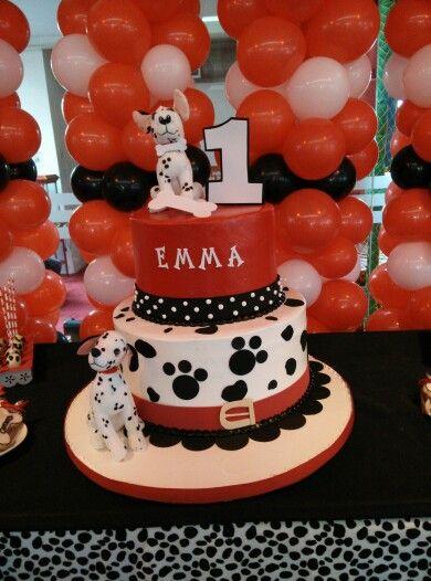 101 Dalmatians Cake 1st Birthday Party 1st Birthday Parties 101 Dalmations Party Birthday