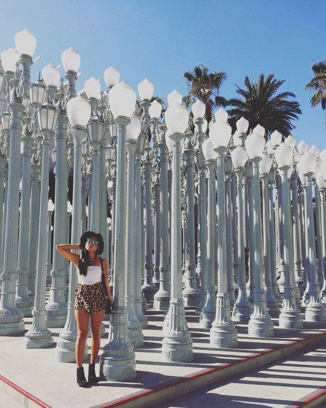 Our favorite places to be seen on Instagram in Los Angeles!  #LA #LACMA #UrbanLights #style #California