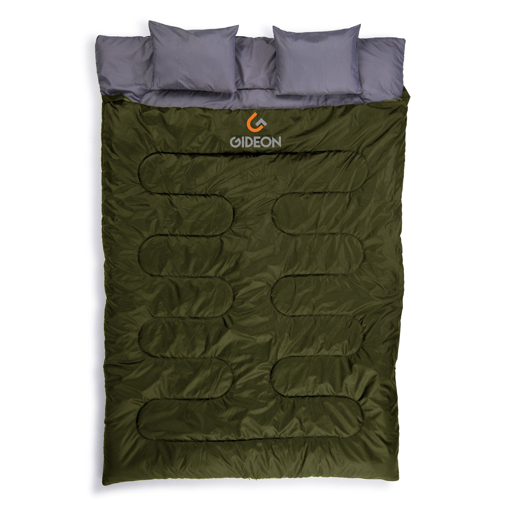 Gideon Extreme Waterproof Backng Double Sleeping Bag With 2 Pillows Amazingly Lightweight Compact