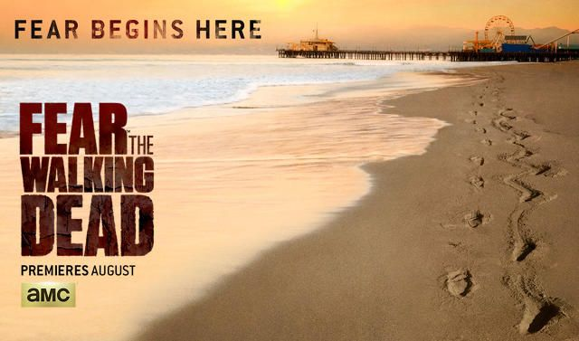 "The ""Fear The Walking Dead"" Poster Offers A Creepy Look At The Santa Monica Pier 