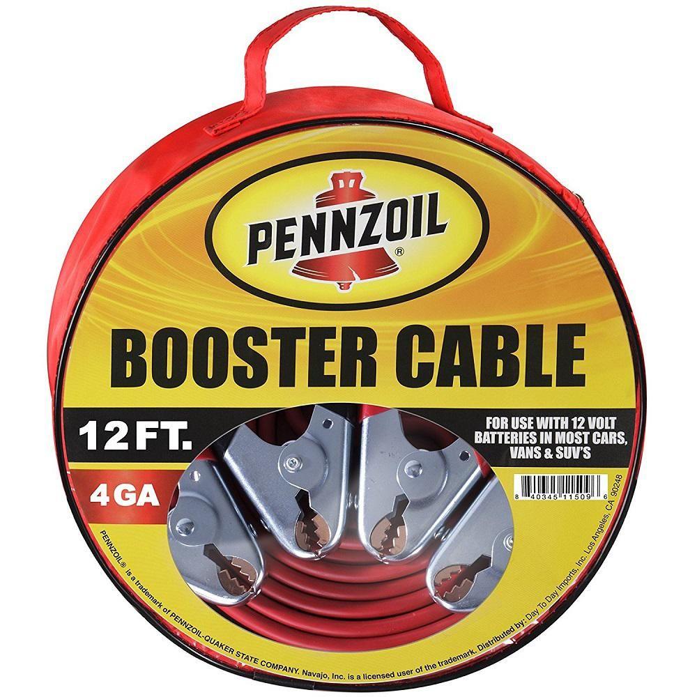 Pennzoil Heavy Duty 12 ft. 4 Gauge Booster Cables | Trucks, Car