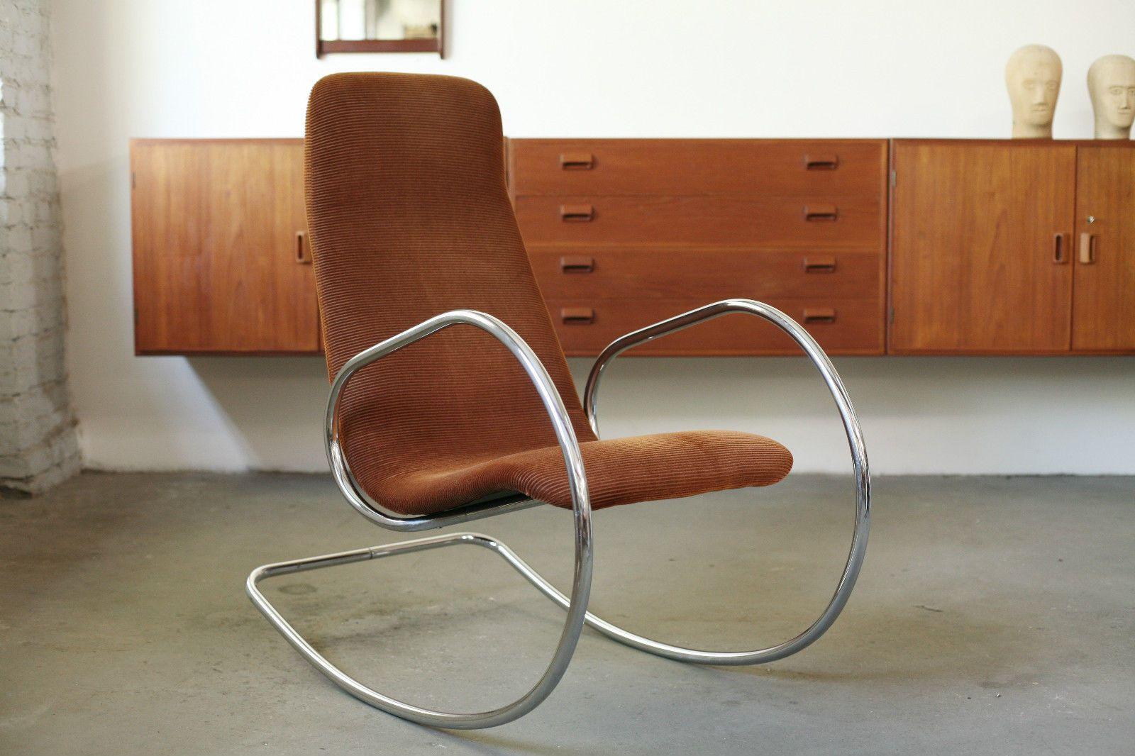 Plywood rocking chair - Details About True Vintage Thonet S826 Schaukelstuhl Ulrich B Hme 70er Stahlrohr Rocking Chair