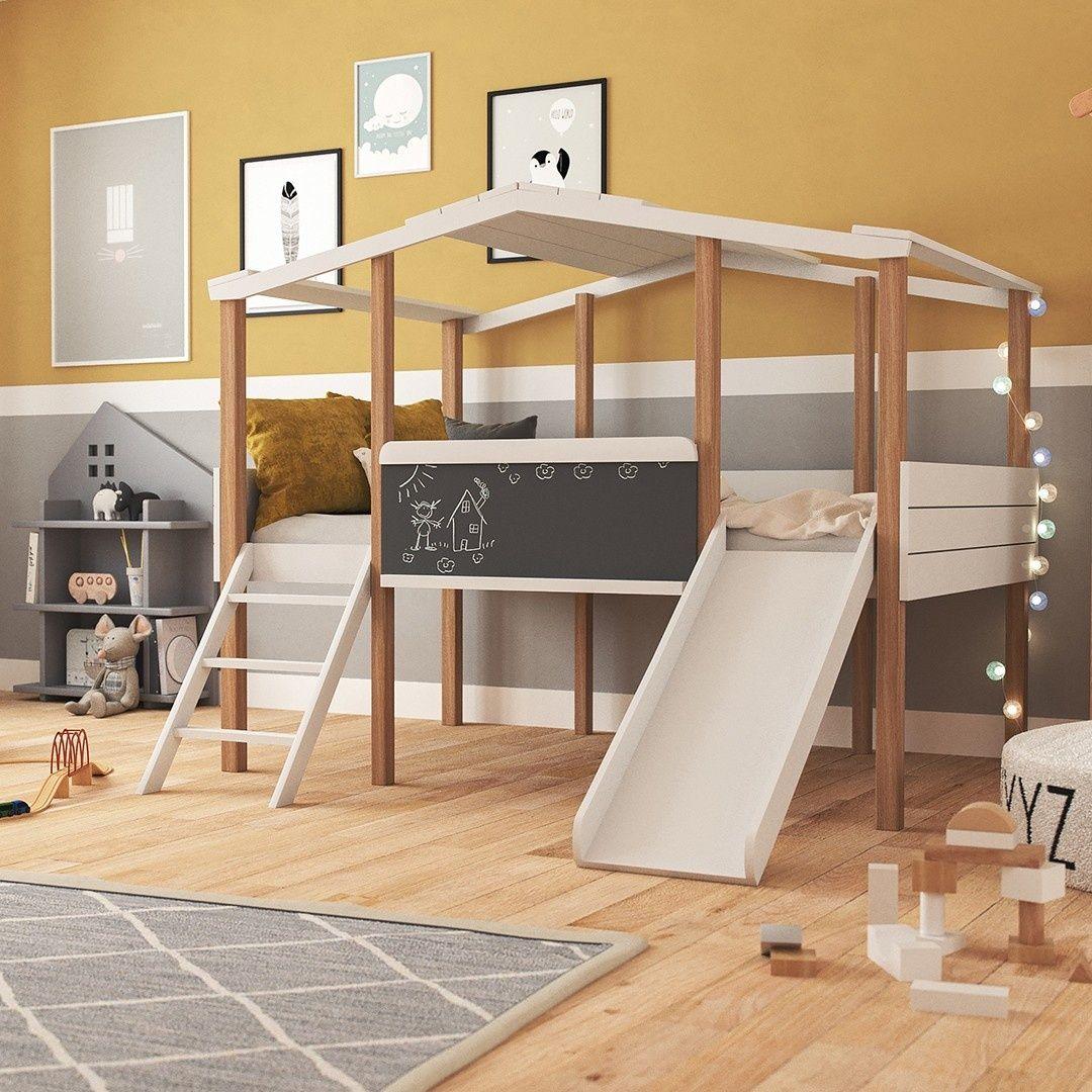 Hausbett Cory Weiss Kiefer 90 X 160 Cm In 2020 Hausbett Bett
