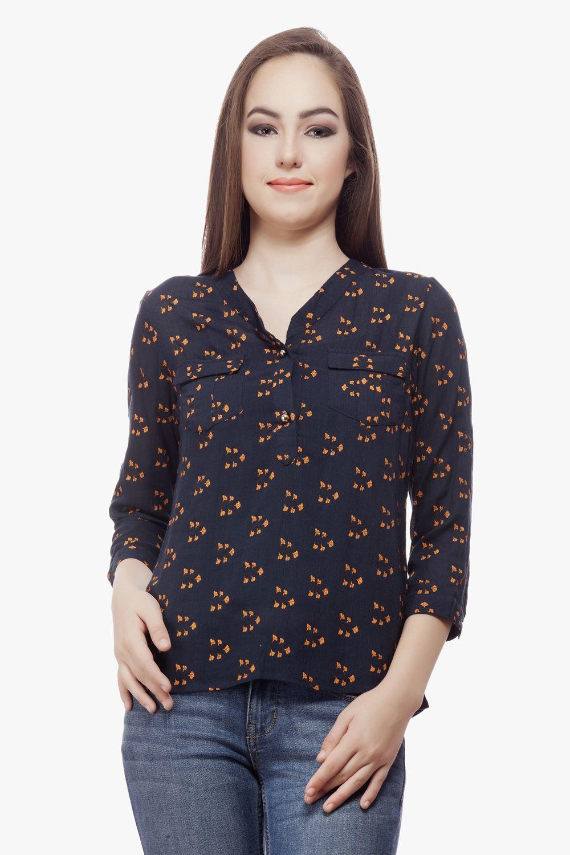 Black t shirt jabong - Shop Miss Queen Printed Rayon Top Jabong Voonik Flipkart Paytm