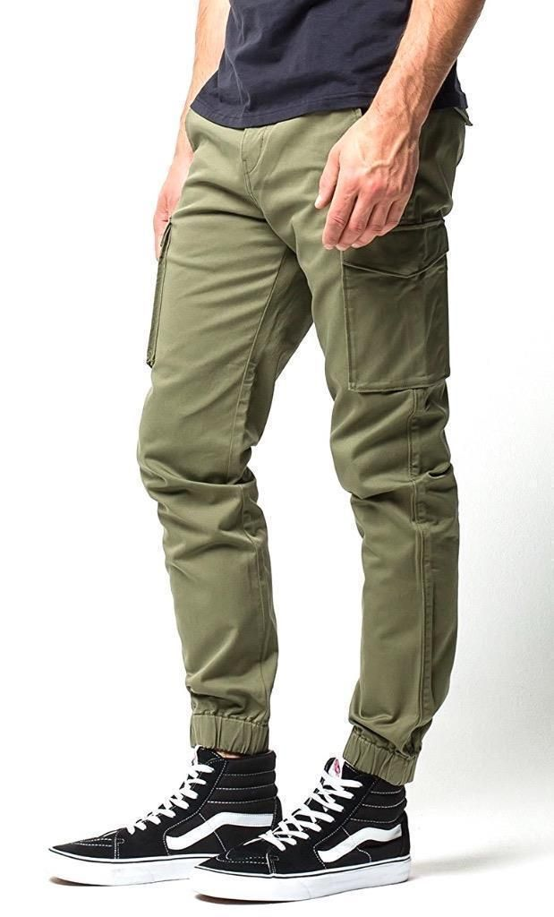 3e8673e82a8a Levi s Men Slim Skinny Banded Cargo Jogger Stretch Pants Fit Olive 246750003