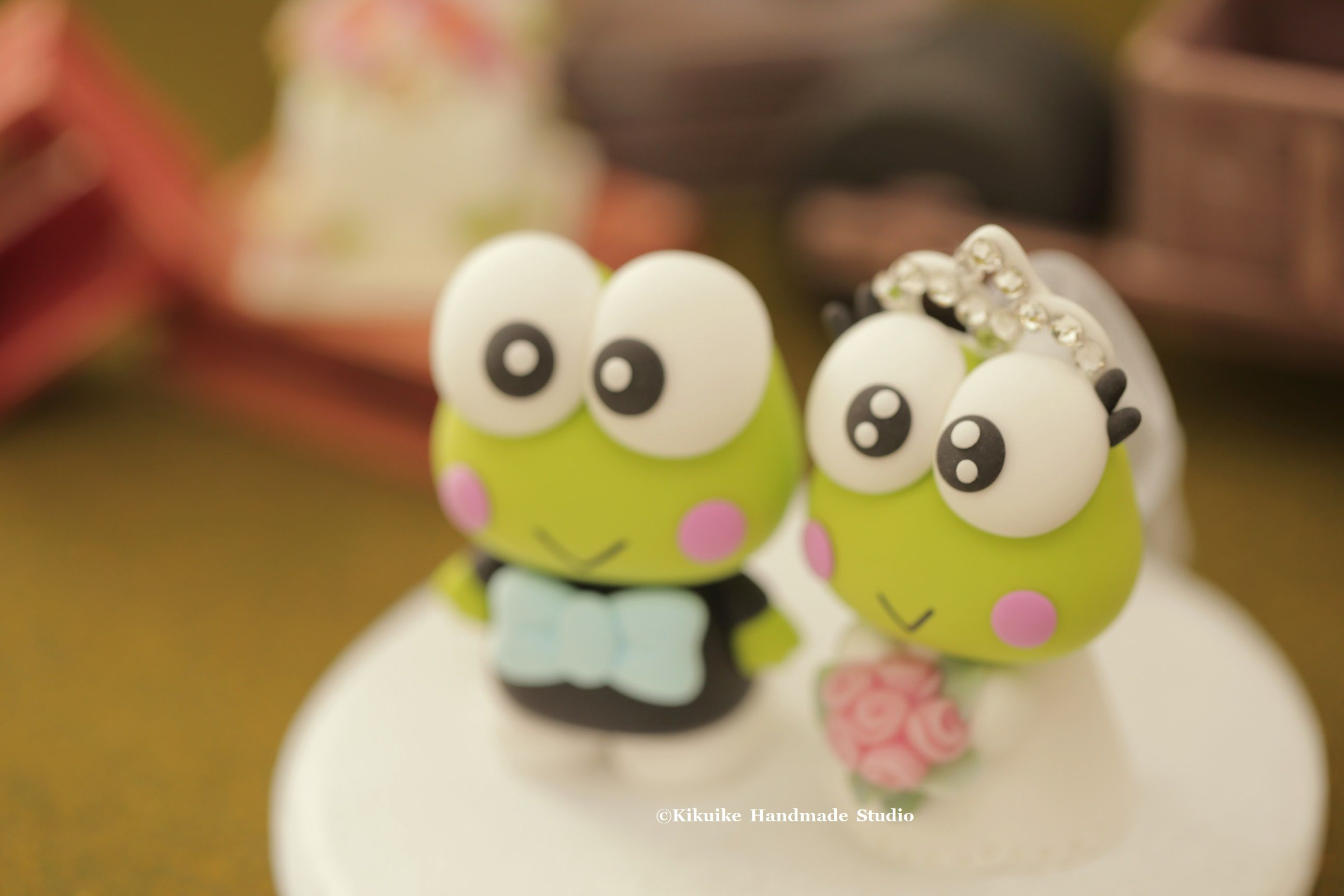 Keroppi wedding cake topper #frog #cute #animalscaketopper ...