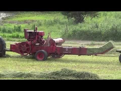 McCormick Deering No  50 - AW hay baler with Farmall CUB