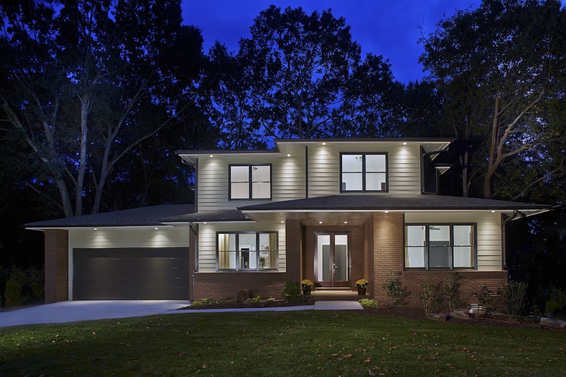a new modern prairie style home featuring hardiplank siding with