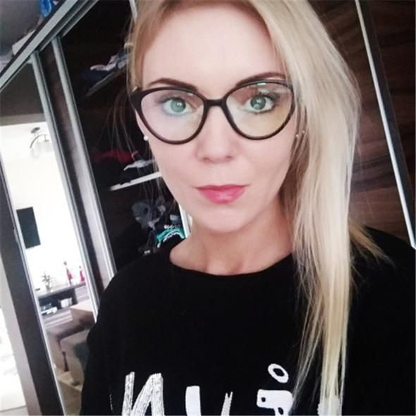 6cb7cf35db5c Fashion Transparent Spectacle Woman Cat Eye Glasses Frame Women And Men  Clear Lens brand Black Optical